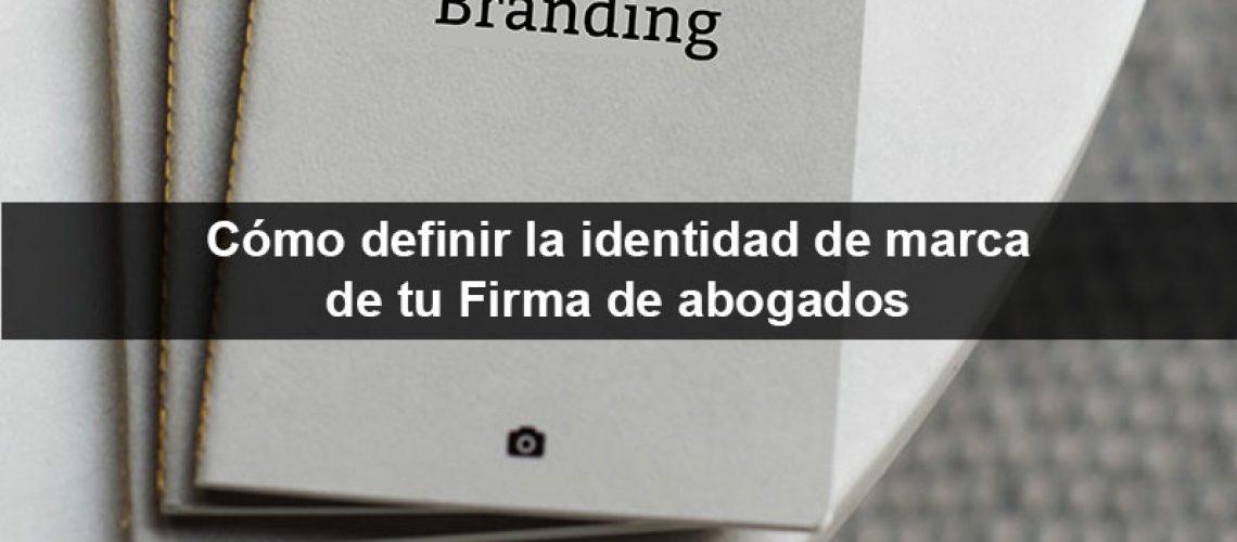 Identidad de marca de firma de abogados